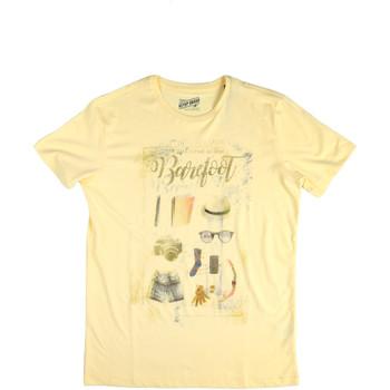 vaatteet Miehet Lyhythihainen t-paita Key Up 2G84S 0001 Keltainen