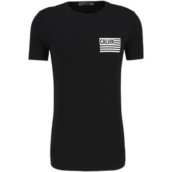 vaatteet Miehet Lyhythihainen t-paita Calvin Klein Jeans J30J306891 Musta