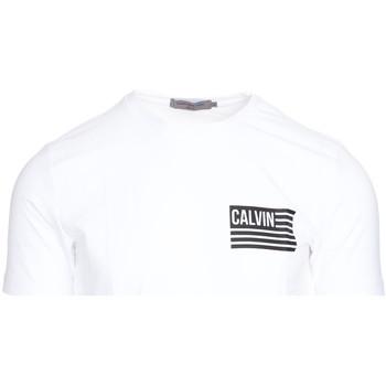 vaatteet Miehet Lyhythihainen t-paita Calvin Klein Jeans J30J306891 Valkoinen