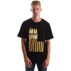 vaatteet Miehet Lyhythihainen t-paita Calvin Klein Jeans J30J306895 Musta
