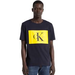 vaatteet Miehet Lyhythihainen t-paita Calvin Klein Jeans J30J307427 Sininen