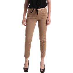 vaatteet Naiset 5-taskuiset housut Gaudi 911BD25011 Ruskea