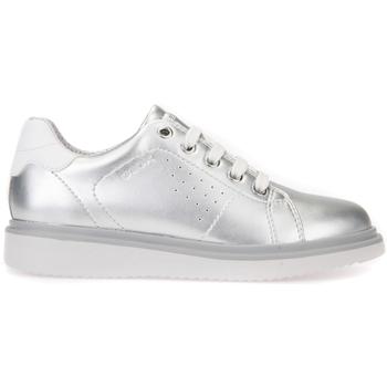 kengät Tytöt Derby-kengät Geox J744FA 000NF Harmaa