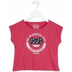 vaatteet Tytöt Lyhythihainen t-paita Losan 814-1023AB Vaaleanpunainen