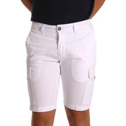 vaatteet Miehet Shortsit / Bermuda-shortsit Sei3sei PZV130 81408 Valkoinen