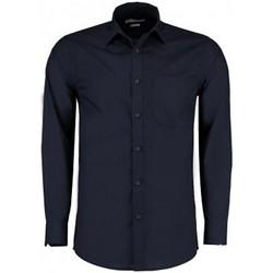 vaatteet Miehet Pitkähihainen paitapusero Kustom Kit K142 Dark Navy