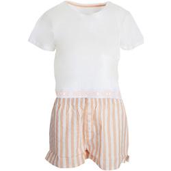 vaatteet Naiset pyjamat / yöpaidat Brave Soul  White/Pink