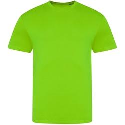 vaatteet Miehet Lyhythihainen t-paita Awdis JT004 Electric Green