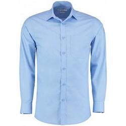 vaatteet Miehet Pitkähihainen paitapusero Kustom Kit K142 Light Blue