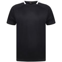 vaatteet Lyhythihainen t-paita Finden & Hales LV290 Navy/White