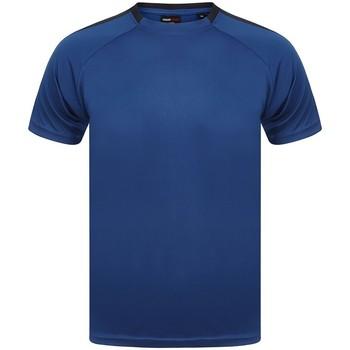 vaatteet Lyhythihainen t-paita Finden & Hales LV290 Royal Blue/Navy