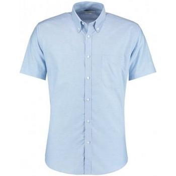 vaatteet Miehet Lyhythihainen paitapusero Kustom Kit KK183 Light Blue