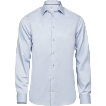 vaatteet Miehet Pitkähihainen paitapusero Tee Jays T4021 Light Blue
