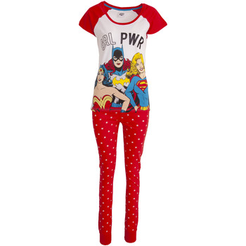 vaatteet Naiset pyjamat / yöpaidat Justice League  White/Red