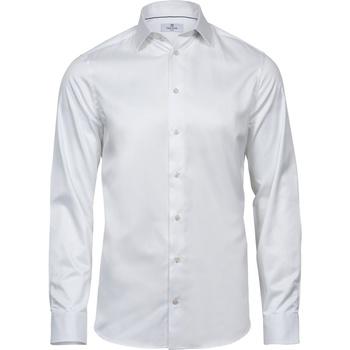 vaatteet Miehet Pitkähihainen paitapusero Tee Jays T4021 White