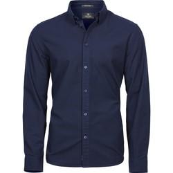 vaatteet Miehet Pitkähihainen paitapusero Tee Jays TJ4010 Navy