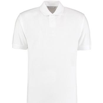 vaatteet Miehet Lyhythihainen poolopaita Kustom Kit KK422 White
