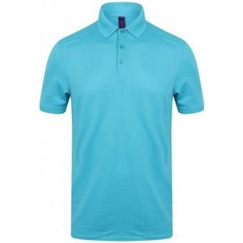 vaatteet Miehet Lyhythihainen poolopaita Henbury HB460 Turquoise
