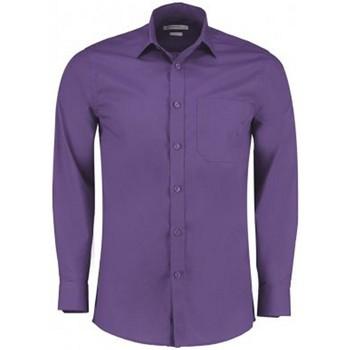 vaatteet Miehet Pitkähihainen paitapusero Kustom Kit K142 Purple