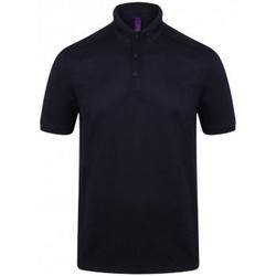 vaatteet Miehet Lyhythihainen poolopaita Henbury HB460 Oxford Navy