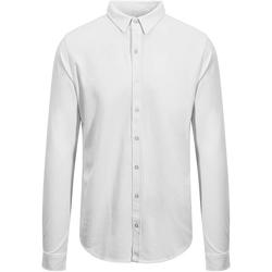 vaatteet Miehet Pitkähihainen paitapusero Awdis SD042 White
