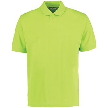 vaatteet Miehet Lyhythihainen poolopaita Kustom Kit KK422 Lime Green