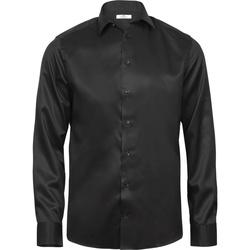 vaatteet Miehet Pitkähihainen paitapusero Tee Jays T4020 Black