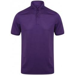 vaatteet Miehet Lyhythihainen poolopaita Henbury HB460 Bright Purple