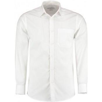 vaatteet Miehet Pitkähihainen paitapusero Kustom Kit K142 White