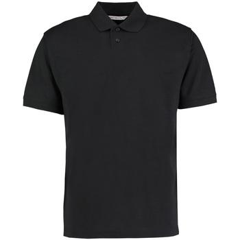 vaatteet Miehet Lyhythihainen poolopaita Kustom Kit KK422 Black