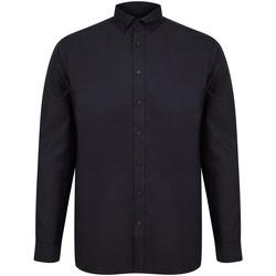vaatteet Miehet Pitkähihainen paitapusero Henbury H512C Black