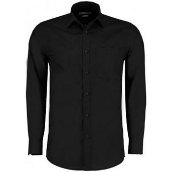 vaatteet Miehet Pitkähihainen paitapusero Kustom Kit K142 Black
