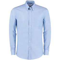 vaatteet Miehet Pitkähihainen paitapusero Kustom Kit KK182 Light Blue