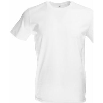 vaatteet Miehet Lyhythihainen t-paita Original Fnb FB1901 White