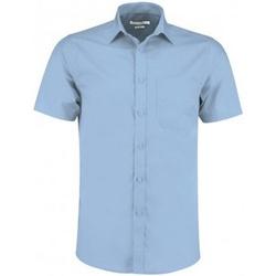 vaatteet Miehet Lyhythihainen paitapusero Kustom Kit KK141 Light Blue