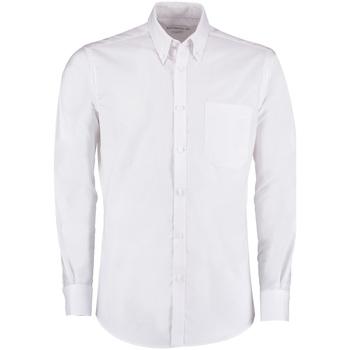 vaatteet Miehet Pitkähihainen paitapusero Kustom Kit KK182 White