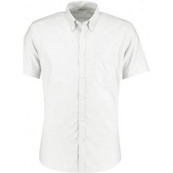 vaatteet Miehet Lyhythihainen paitapusero Kustom Kit KK183 White