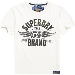vaatteet Miehet Lyhythihainen t-paita Superdry M10003TR Valkoinen