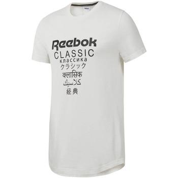 vaatteet Miehet Lyhythihainen t-paita Reebok Sport DJ1893 Valkoinen