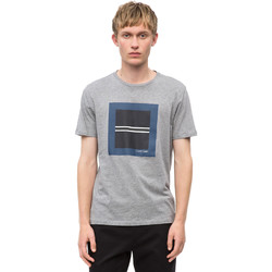 vaatteet Miehet Lyhythihainen t-paita Calvin Klein Jeans K10K102679 Harmaa
