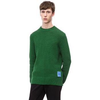 vaatteet Miehet Neulepusero Calvin Klein Jeans K10K102731 Vihreä