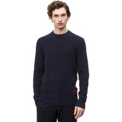 vaatteet Miehet Neulepusero Calvin Klein Jeans K10K102731 Sininen