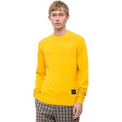 vaatteet Miehet Neulepusero Calvin Klein Jeans K10K102739 Keltainen