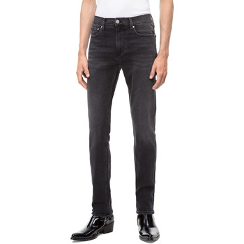 vaatteet Miehet Slim-farkut Calvin Klein Jeans J30J308317 Musta