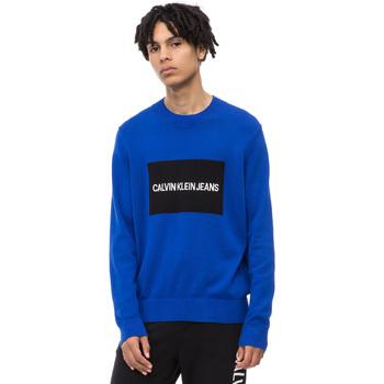 vaatteet Miehet Neulepusero Calvin Klein Jeans J30J309542 Sininen