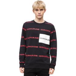 vaatteet Miehet Neulepusero Calvin Klein Jeans J30J309796 Musta