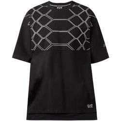 vaatteet Miehet Lyhythihainen t-paita Emporio Armani EA7 6ZPT43 PJQ0Z Musta