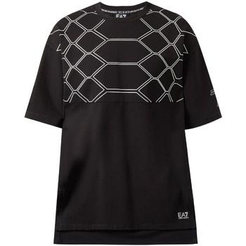 vaatteet Miehet Lyhythihainen t-paita Ea7 Emporio Armani 6ZPT43 PJQ0Z Musta