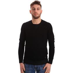 vaatteet Miehet Neulepusero Gaudi 821BU53036 Musta