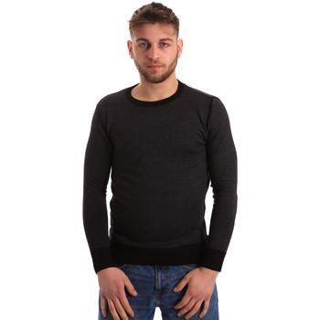 vaatteet Miehet Neulepusero Bradano 166 Musta